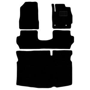マツダ デミオ フロアマット floormat カーマット 車内用マット  DEMIO DE系 ラゲッジマット カーフロアマット カーマット 車内用マット  黒  4点セット|w-class