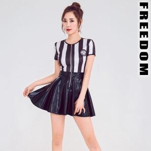 セール sale セクシーコスプレ コスチューム チアガール コスプレ 衣装 モノトーンストライプが可愛い!チアガールレースクイーンコスチューム|w-freedom