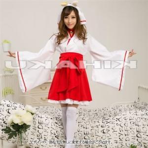 セール sale  激安 巫女 神社 コスプレ コスチューム 衣装 ミニスカ巫女コスチュームセット フリーサイズ w-freedom