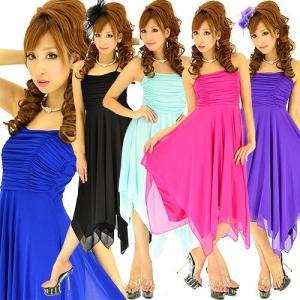 激安 セール価格 キャバドレス キャバ ドレス シャーリングチュールアシメトリー ミニドレス|w-freedom