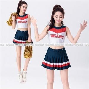 セール sale チアリーダー コスプレ 衣装 へそ出しノースリのチアガールコスチューム Sサイズ Mサイズ Lサイズ LLサイズ 3Lサイズ|w-freedom