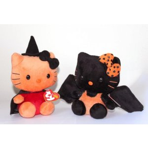 TY Beanie Babies - HELLO KITTY (Set of 2 - WITCH &...