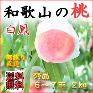 和歌山田中農園の桃 白鳳 秀品2kg 6玉〜7玉...