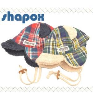 シャポックス クマ耳タータンチェックキャップ 54-2001 ゆうパケット可 2個まで w-village