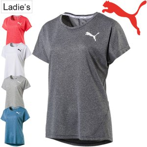Tシャツ 半袖 レディース/プーマ PUMA アクティブエッセンシャル Tシャツ/トレーニングシャツ フィットネス ジム ランニング/半袖シャツ 女性/ 851927|w-w-m