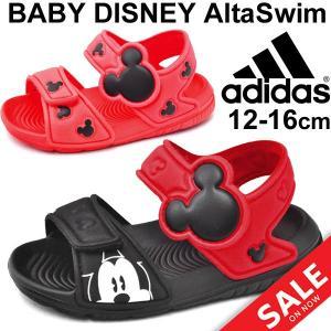 サンダル キッズ ベビー シューズ アディダス adidas ディズニー コラボ ミッキー ミニー キャラクター 12.0-16.0cm 子供靴 BA9303 BA9304 Disney /ALTASwim-|w-w-m