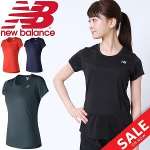 半袖Tシャツ レディース new balance ニューバランス アクセレレイト ショートスリーブ ランニング マラソン ジムトレーニング 女性用/AWT73128|w-w-m