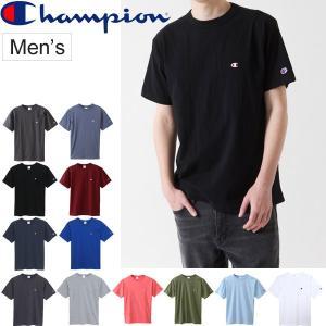 Tシャツ 半袖 メンズ チャンピオン Champion ベーシック クルーネック 半袖シャツ タウンユース スポーツカジュアル 紳士 男性用/C3-H359 w-w-m