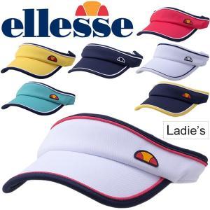 サンバイザー レディース/エレッセ ellesse ゲームバイザー/テニス ソフトテニス ゴルフ 女性用 紫外線対策 吸汗速乾 スポーツ アクセサリー/EAC1860L|w-w-m