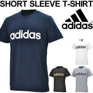 Tシャツ 半袖 メンズ アディダス adidas ESSENTIALS 半袖シャツ ロゴT トレーニング スポーツ カジュアル ウェア 丸首 男性 トップス/EMR81|w-w-m