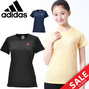 半袖Tシャツ レディース アディダス adidas ロゴT 女性用 スポーツ カジュアル ウェア トップス 半そで リニアロゴ ワンポイント /EMT31|w-w-m