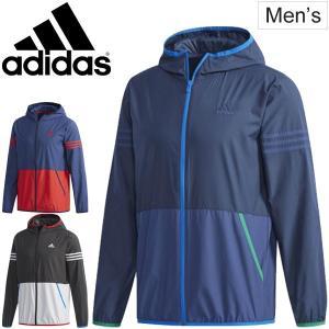 ウインドブレーカー ジャケット メンズ/アディダス adidas M SPORT ID カラーブロック フルジップパーカー/ETZ61|w-w-m