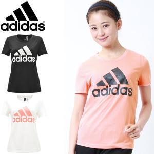 Tシャツ 半袖 レディース/アディダス adidas ビッグロゴ プリントT 女性 カットソー/FAV79|w-w-m