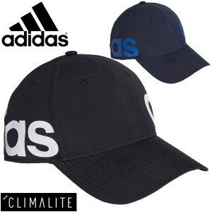 キャップ 帽子 メンズ レディース adidas アディダス リニアキャップ トレーニング ランニング 陽射し対策 UPF50 熱中症対策 スポーツ アクセサリー/FSO12|w-w-m
