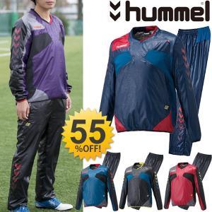 ヒュンメル メンズ ピステ 上下セット  hummel 男性 サッカー フットサル トレーニングウェア フットボール ウインドブレーカー 保温 防寒/HAW4168-HAW5168|w-w-m