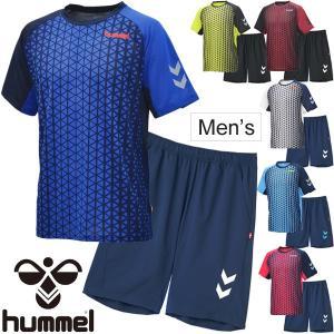 半袖Tシャツ ハーフパンツ 2点セット メンズ レディース/ヒュンメル hummel トレーニングウェア サッカー フットボール ハンドボール 部活/HAY2077-HAP2059|w-w-m