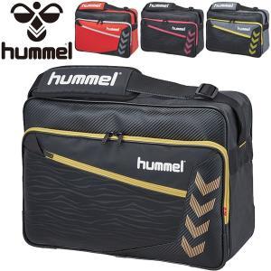 エナメルバッグ メンズ レディース/Hummel ヒュンメル ターポリン ショルダーバッグ 約37L/スポーツバッグ サッカー ジム かばん 肩掛け 斜めがけ/ HFB3130|w-w-m