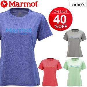 半袖 Tシャツ レディース マーモット Marmot ロゴT アウトドア カジュアル ウェア 女性用 半そで W's Marmot Flower Logo 正規品 MJTS7581W /MJT-S7581W|w-w-m