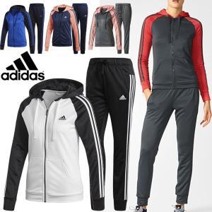 ジャージ 上下セット レディース/アディダス adidas 3本線 トラックスーツ スリムフィット ジムトレーニング フィットネス/MMJ89|w-w-m
