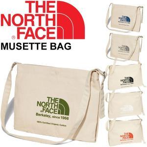 ショルダーバッグ レディース メンズ/ザノースフェイス THE NORTH FACE ミュゼットバッグ/肩掛け オーガニックコットン ロゴ シンプル A4サイズ対応 鞄/NM81765 w-w-m