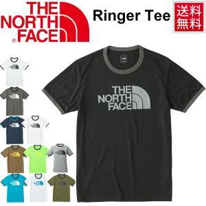 ランニングシャツ 半袖 Tシャツ メンズ THE NORTH FACE ザ・ノースフェイス リンガーティー 男性 吸湿速乾 トップス ビッグロゴ/NT81570|w-w-m