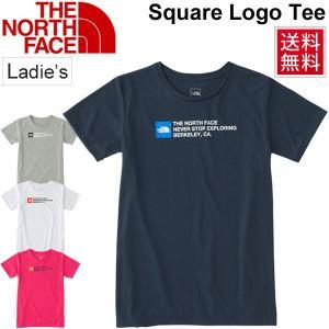 Tシャツ 半袖 レディース ノースフェイス THE NORTH FACE スクエアロゴティー 女性用 半袖シャツ アウトドア トレーニング ランニング/ NTW31889|w-w-m