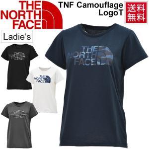 Tシャツ 半袖 レディース ザノースフェイス THE NORTH FACE TNFカモフラージュロゴティー 女性用 カジュアル スポーツ/NTW61787|w-w-m