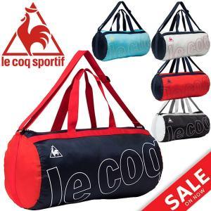 ボストンバッグ メンズ レディース/ ルコック le coq sportif ポケッタブル ドラムバッグ 33L スポーツバッグ サブバッグ コンパクト /QMALJA04|w-w-m