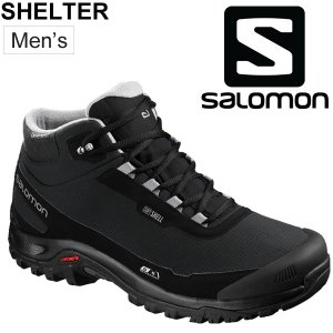 ウィンターシューズ メンズ/サロモン SALOMON SHELTER CS WP/ミッドカット ブーツ 防寒 防滑 防水 カジュアル アウトドア L404729 スノーブーツ/SHELTER w-w-m