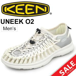 KEEN メンズシューズ UNEEK O2 ユニーク アウトドア サマーシューズ オープンエアスニーカー ホワイト 男性 靴 keen 正規品 1017225/UneekO2|w-w-m