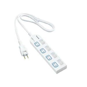 パナソニック延長コード 3mコード WHA25344WPザ・タップX 個別防水スイッチ付き/4コ口/ホワイト ※取寄せ品|w-yutori