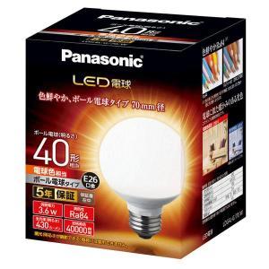 LED電球 3.6W 電球色相当 電球40W形相当 430lm E26口金 LDG4LG70W panasonic w-yutori