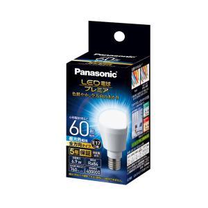 LED電球 6.9W 昼光色相当 小形電球60W形相当 760lm E17口金 LDA7DGE17Z60ESW2 パナソニック panasonic w-yutori
