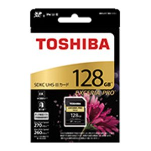 東芝 SDXU-D128G SDHC/SDXCメモリカード 「EXCERIA PRO」 128GB|w-yutori