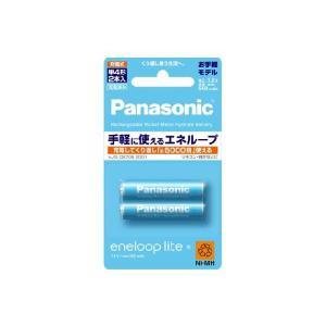 充電池 単4 エネループ ライト ニッケル水素充電池 パナソニック 2本パック(お手軽モデル) BK-4LCC/2 w-yutori