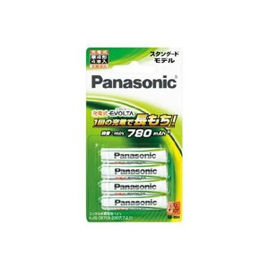 充電池 単4 ニッケル水素充電池 パナソニック エボルタ 4本 スタンダードモデル BK-4MLE/4B