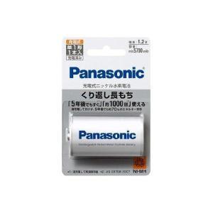 単1電池 充電式 ニッケル水素電池  パナソニック 高容量Min.5700 mAh BK-1MGC/1|w-yutori