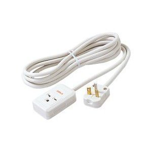 エアコン 延長コード 3m 15A・20A兼用200Vコンセント用 3m パナソニック WH4931WPホワイト|w-yutori