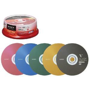 SONYソニー20DMW12KXPビデオ用DVD-RW(CPRM対応/1〜2倍速/4.7GB)(スピンドルケース20枚)|w-yutori