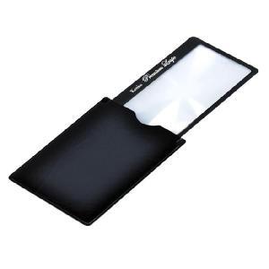 拡大鏡 ルーペ ストッパー付カードタイプ プレミアムルーペ KTL-015BK カラー:ブラック|w-yutori