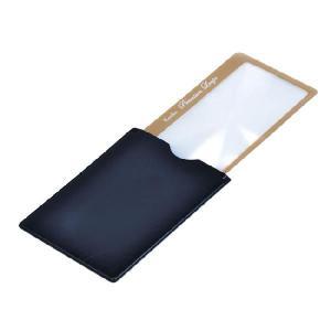 拡大鏡 ルーペ ストッパー付カードタイプ プレミアムルーペ KTL-015GD カラー:ゴールド|w-yutori