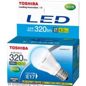 LED電球E17口金 東芝 昼白色  LDA4N-E17 小形電球形 セール|w-yutori