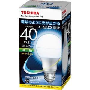 LED電球 E26口金 40w相当 昼白色 東芝 一般電球形 LDA5N-G/40W 光が広がる|w-yutori