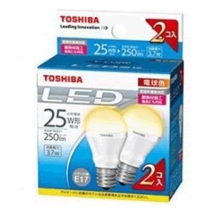 LED電球 E17 電球色 東芝 25W相当 2個入り LDA4L-H-E17/S-2P小形電球形 セール|w-yutori