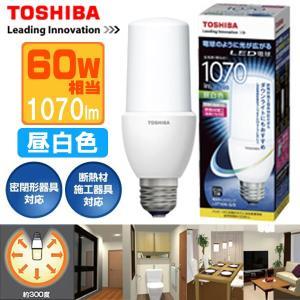 東芝 LED電球 T型 電球色 60W形相当 1070lm 10.0W 広がるタイプ LDT10N-G/S  E26口金|w-yutori