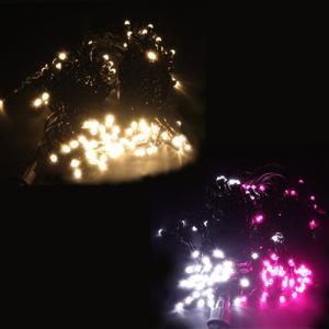 LED イルミネーションライト つららライト 5m 120球 防水 ゴールド/ホワイト&ピンク  HTILMT|w-yutori