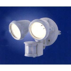 屋外ライト 人感センサーライト コンセント電源 ハロゲン球2灯型 MSL-75H2|w-yutori
