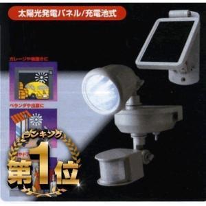 人感センサーライト 屋外 LED ソーラー式 防犯灯に|w-yutori