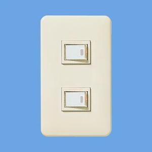 電気スイッチ Panasonic スイッチ パナソニック WNP5251MWP 埋込ほたるダブルB(片切)|w-yutori