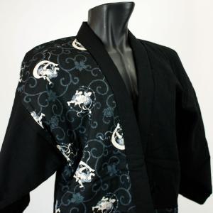 古渡-KOWATARI-謹製 日本製 紳士用綿入袢纏【江戸の粋(風神雷神)】 wa-raku